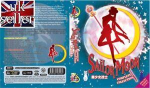 Anime DVD Sailor Moon Complete Season 1-6 + 3 Movies ENGLISH DUBBED - UK SELLER