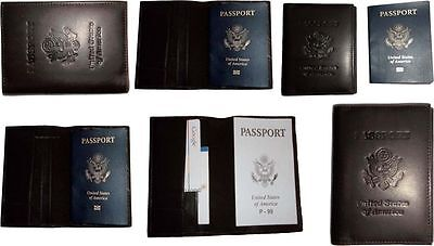 6 New USA Leather passport case wallet credit ATM card case ID holder Brand New