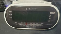 Sony Dream Machine AM/FM Clock Radio Alarm LED White ICF-C318 Free Shipping