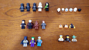 12 Lego Minifigs - Star Wars, Batman - $40 OBO
