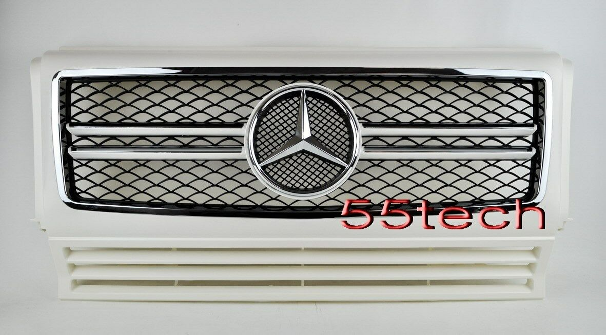 mercedes g class w463 grille grill g500 g55 90 08 amg. Black Bedroom Furniture Sets. Home Design Ideas