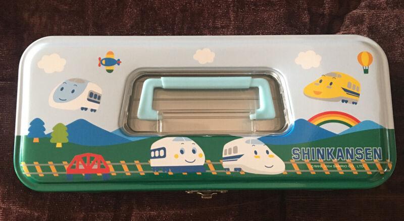 Rare vintage Sanrio Original 2004 Shinkansen  SCHOOL PENCIL BOX Collectible