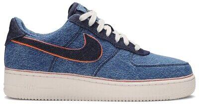Nike Air Force 1 Low 3x1 Denim Stonewash Shoes Size 11.5 Denim 905345-403