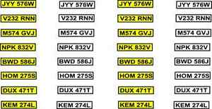 will fit 1/43 SCALE NUMBER PLATE decals  A also code 3 models Cararama & Hongwel