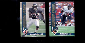1992-Score-Chicago-Bears-Gridiron-Stars-Set-MARK-CARRIER-JOHNNY-BAILEY