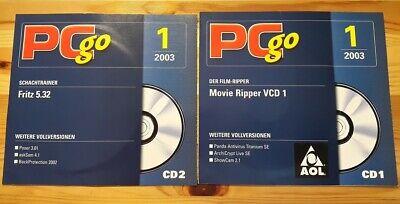 2x CD FRITZ 5.32 SCHACH 32 BIT VOLLVERSION MOVIE RIPPER PC CD ROM - PC GO 1/2003, gebraucht gebraucht kaufen  Körner