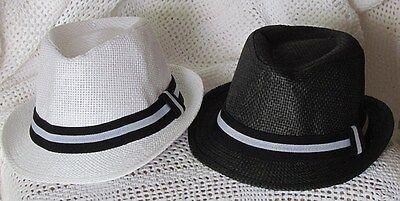 Kids, Children's and Toddler, Boys & Girls Straw Fedora Hat - Free Shipping ](Toddler Girl Fedora Hats)