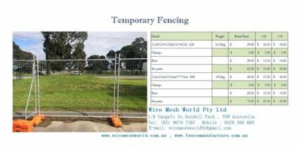 Fence/Wire Mesh/Post/Temporary fence [GST included] price on pics