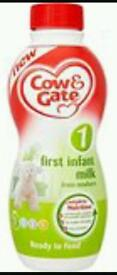 Cow & gate pre made milk no. 1 from Birth onwards