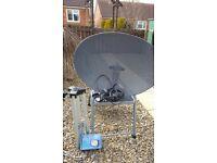 Satellite Dish plus tripod stand