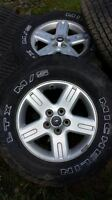 P235 - 70 - R16 MICHELIN LTS TIRES AND RIMS FROM A FORD ESCAPE