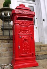 New cast iron post box