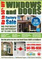 50%OFF! windows replacement| entry door| patio door 416-661-6666