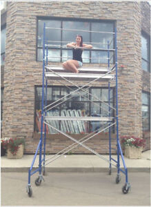 """10' Scaffold Tower with 3' x 5' Narrow Frames & 7' x 19"""" Deck"""