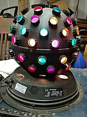 American DJ X-Ray II Disco Ball-Multicolored lights, Working