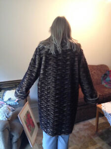 Ladies' Faux Fur Coat, USA-made by Olympia Limited, Inc