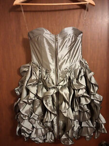 Silver Frilled Dress