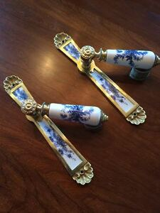 Two Sets of Delft Lever door handles and back plates  $45 Kingston Kingston Area image 1