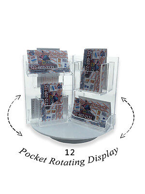 12 Pocket Rotating Business or Gift Card Holder Counter top Rack Display Spinner ()