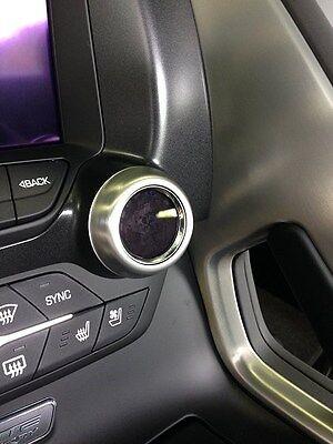 C7 Corvette Stingray Radio/Climate Adjust Knobs Aluminum Trim Rings Brushed Aluminum Trim Ring