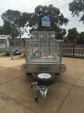 7X4 GALVANISED Caged Trailer with DROP DOWN RAMP Para Hills West Salisbury Area Preview