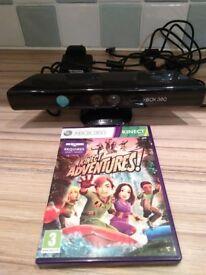 Xbox 360 Kinect Sensor and Kinect Adventures Game