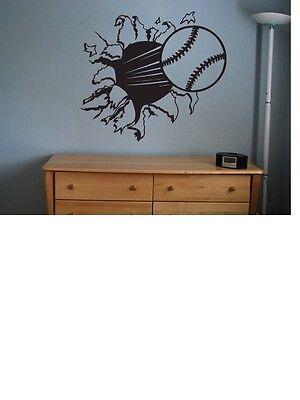 Baseball sticker decal kids room decor sports football large bedroom wall - Baseball Wall Decor