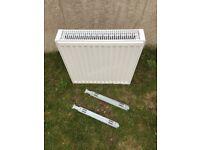 White Double radiator - NEW