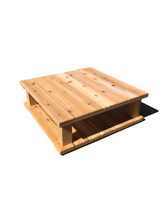 Cedar Patio Coffee Table