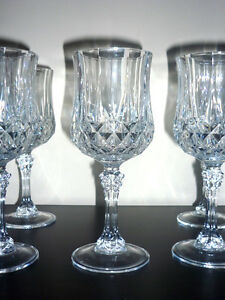 2 sets of Crystal Glasses ... different heights ... NEW