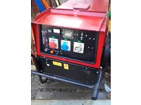 13KW Diesel generator 3 phase Mosa GE13000 SXC Air Cooled only 456m/h new model