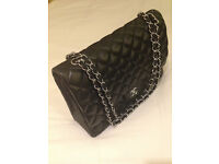 LOUIS VUITTON EVA CLUTCH, DKNY WALLET & CHANEL DOUBLE FLAP HANDBAG - USED