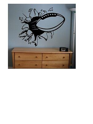 Football sticker decal kids room decor sports football large bedroom wall diy ](Sports Room Decor)