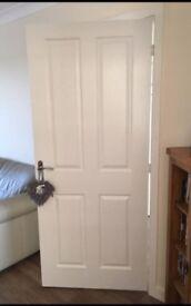 National Hickman internal white doors x2