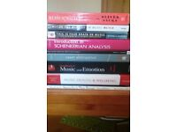 Music psychology books (batch, including rare) - REDUCED!