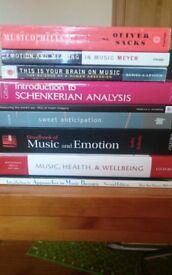 Music psychology books (batch, including rare)