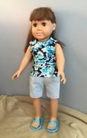 Doll Clothes - Blue Jean Shorts Outfit
