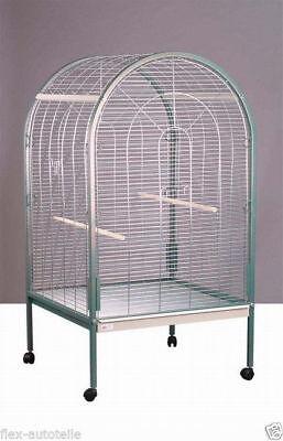 Vogelvoliere Vogelkäfig Vogelhaus groß 85x85x155cm Papagei Großvogel  ()