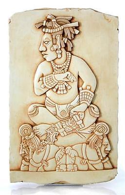 Mayan Tablet Slaves Wall Hanging King Pacal Palenque Precolumbian 12.5H P-019S
