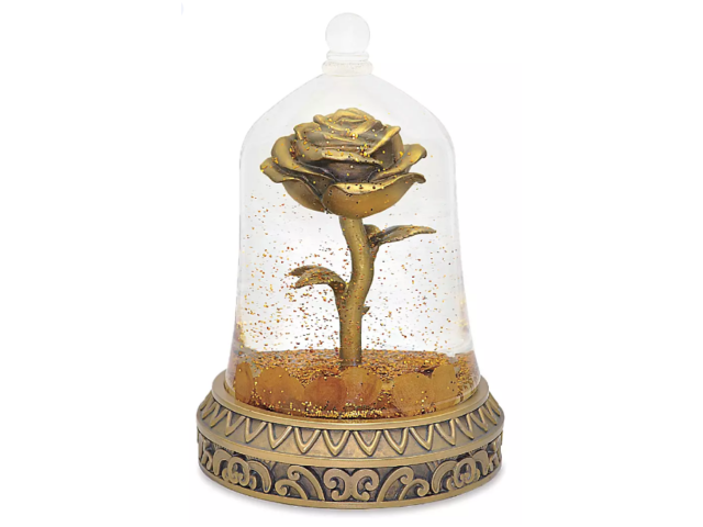 Disney Beauty and the Beast Enchanted Rose Snowglobe Visa Exclusive LE 1000