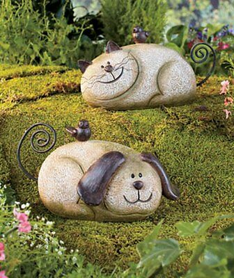 CAT OR DOG STONE GARDEN FRIEND STATUE ...