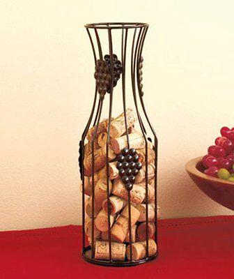 Meta Wire Carafe Wine Bottle Cork Holder.home Decor, Bar. Great Gift