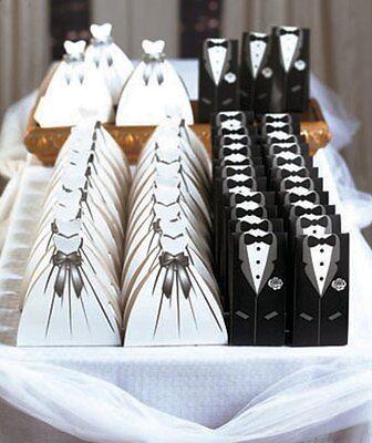 Wedding Suit & Dress 50-Pc. Favor Boxes. Guest Gift Bags Favors for the Big Day. (Wedding Guest Gift)