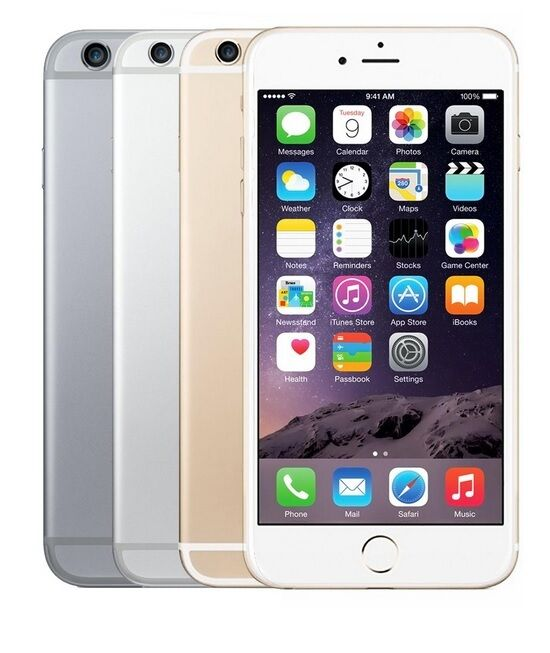 Apple iPhone 6+ Plus-16GB 64GB GSM Factory Unlocked Smartphone Gold Gray Silver*