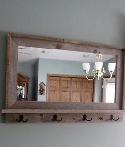 Entry mirror and coat rack