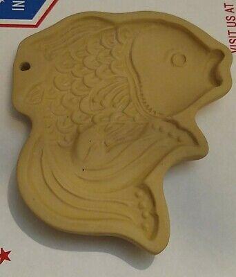 Brown Bag Cookie Art Mold Koi Fish Goldfish 1983 vintage