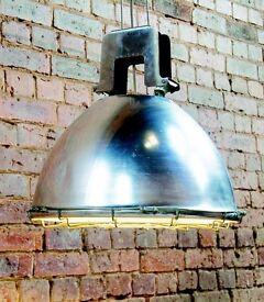 Large Industrial Pendant Light (Needs repair)