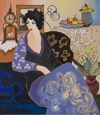 "Art QUALITY CANVAS PRINT, Itzchak Tarkay oil painting C78 Beatri wall deco16x14"""