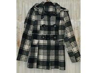 Girl's George check coat size 10-11 years
