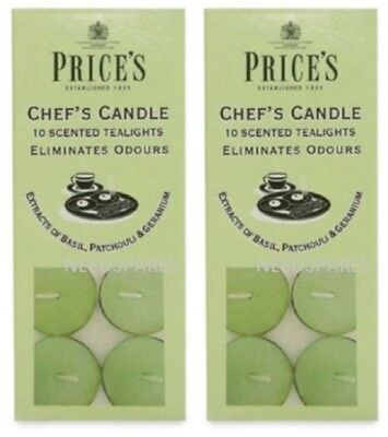 Prices Chefs Scented Tealights Candles Eliminates Cooking Food Odours 20 Pack